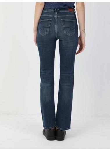 Colin's 792 Mıla Orta Bel Düz Paça Regular Fit Mavi Kadın Jean Pantolon Renkli